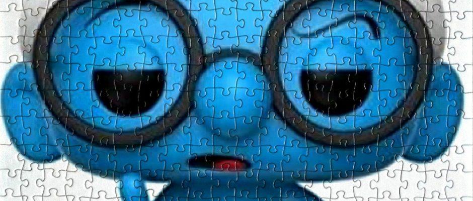Un puzzle che raffigura Puffo Quattrocchi